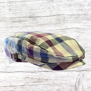 NWT Janie And Jack Plaid Newsboy Cap